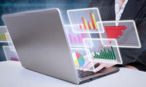 gráficos monitoramento rede corporativa